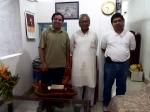With Manoj Das