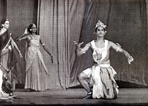 Togo as Agni in a dance drama